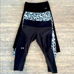 Bundle 3 pairs of workout capris